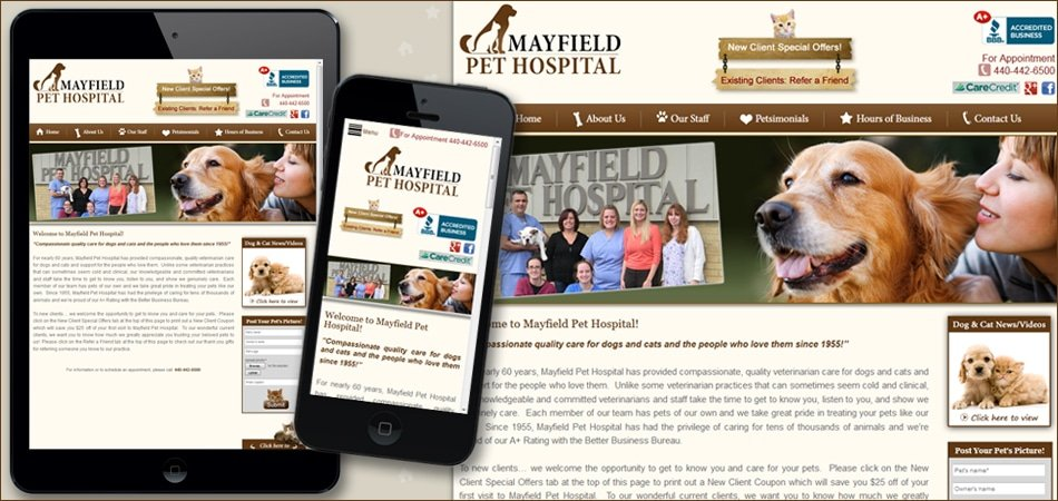 Pet Hospital Mobile Responsive Website Design By Pat's Marketing