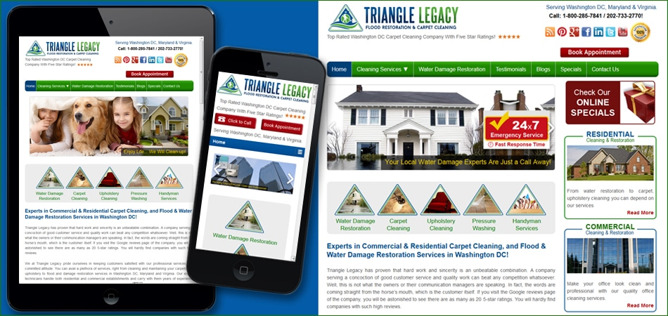 Triangle Mobile Optimized Website