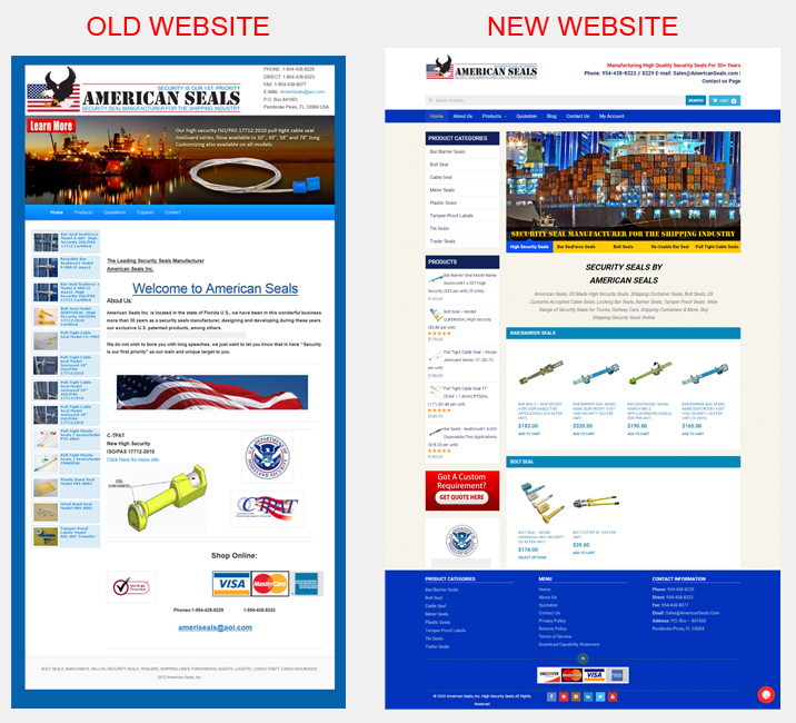 Before/After New Website Design